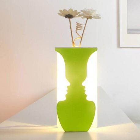 Lumière Avec Blanche Lampe Visages À 2 Vase Intégré TJFlKu1c3