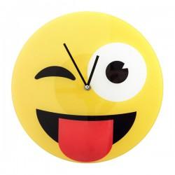 Horloge murale Smiley farceur