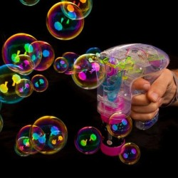 Pistolet machine à bulles Led