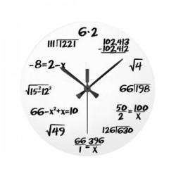 Horloge murale avec équation mathématiques à résoudre