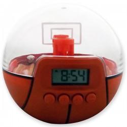 Réveil et jeu en forme de balle de basket et panier
