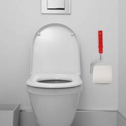 Dérouleur de papier toilettes en forme de rouleau à peinture
