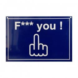 Plaque de Porte F*** you