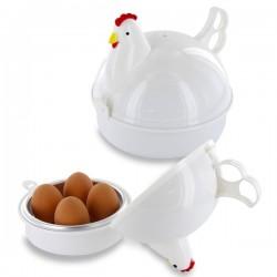 Cuiseur à œuf pour micro-ondes en forme de poule 4 oeufs