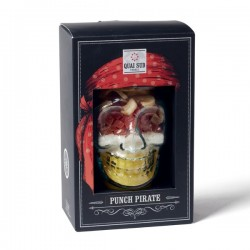 Mason Jar avec punch de fruits exotiques pirate tasse tête de mort de pirate