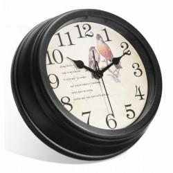 Horloge murale avec caméra espion Full HD 1080P Wifi oiseaux ronde