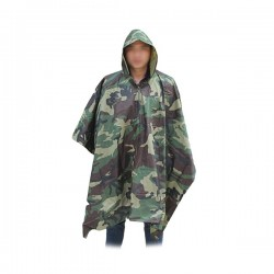 Poncho Imperméable motif camouflage