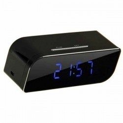 Réveil avec caméra espion HD 1080P Wifi vision nocturne rectangle