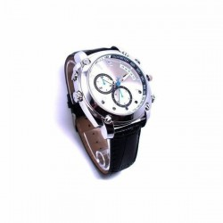 Montre avec caméra espion HD 1080P 8Go gris Vision nocturne waterproof
