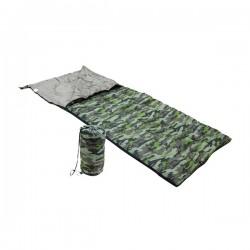 Sac de Couchage pour 1 place Camouflage avec sac de rangement 190 x 75 cm