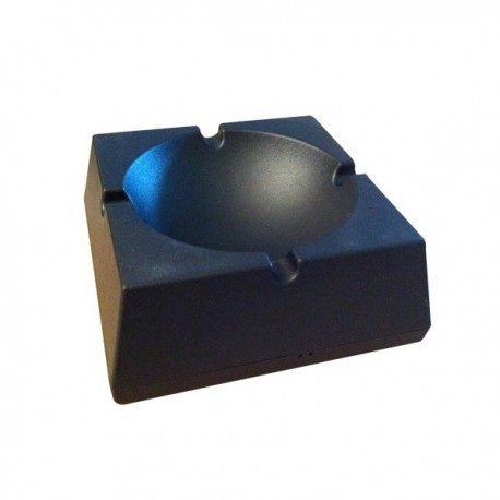 Cendrier noir en plastique mouchard
