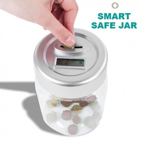 Tirelire jar compteur de monnaie en plastique