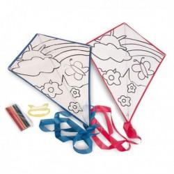 Cerf-volant à colorier avec 5 feutres