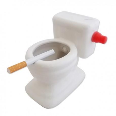 Cendrier siège de toilettes en céramique