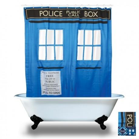 Rideau de Douche Tardis série Dr Who