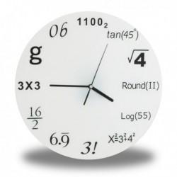 Horloge murale symboles mathématiques