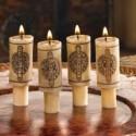 4 bougies imitation bouchon de vin