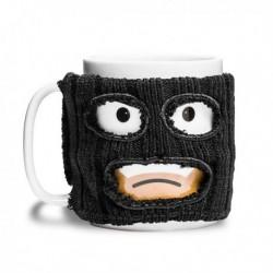 Mug bandit avec cagoule noire amovible