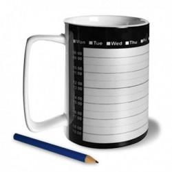 Tasse planning rappel crayon et gomme