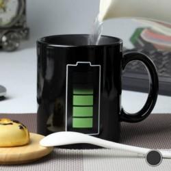 Tasse thermique batterie rechargée