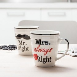 Duo tasses Monsieur et Madame Right