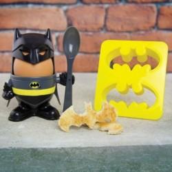 Kit Coquetier Batman avec coupe-toasts chauve-souris