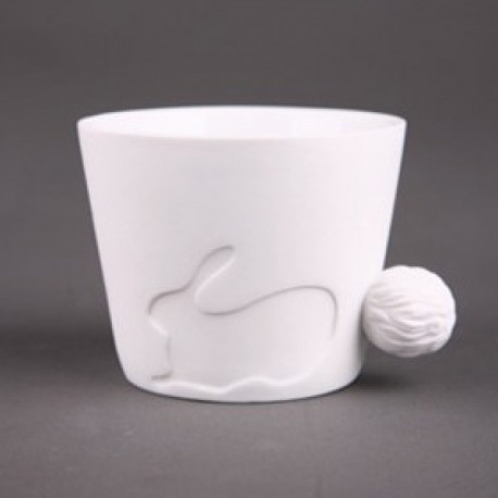 Tasse porcelaine lapin