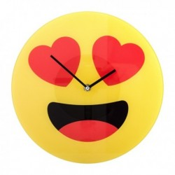 Horloge murale émoji amoureux