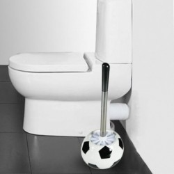 Brosse de toilette ballon de football