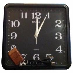 Horloge murale carrée avec caméra espion 4Go
