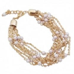 Bracelet en chaînes avec perles