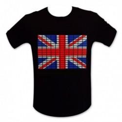T-shirt lumineux drapeau Royaume-Uni