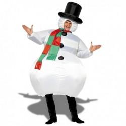Costume gonflable bonhomme de neige
