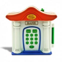 Tirelire électronique en forme de mini banque