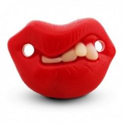 Tétine humoristique avec dents