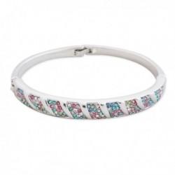 Bracelet argenté avec strass multicolores