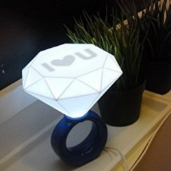 Lampe bague LED I love U