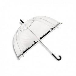 Parapluie transparent imprimé ville